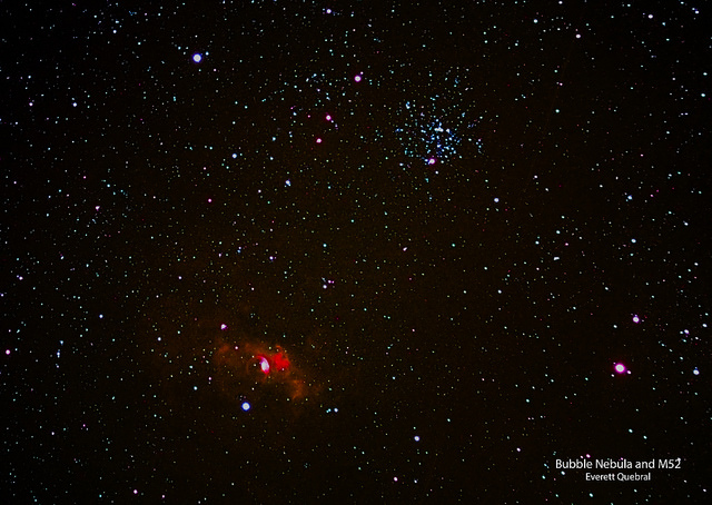 Bubble Nebula and M52