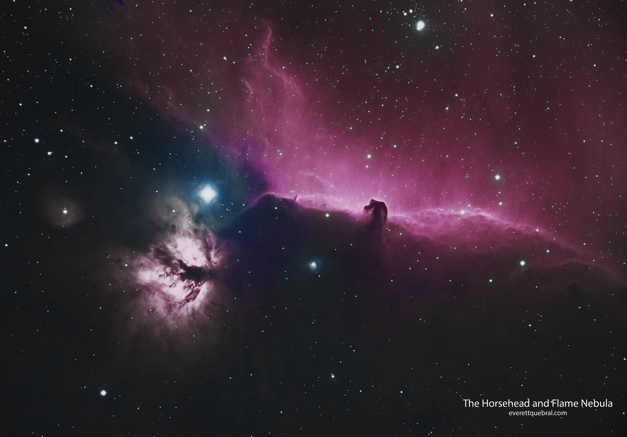 The Horse Head and Flame Nebula