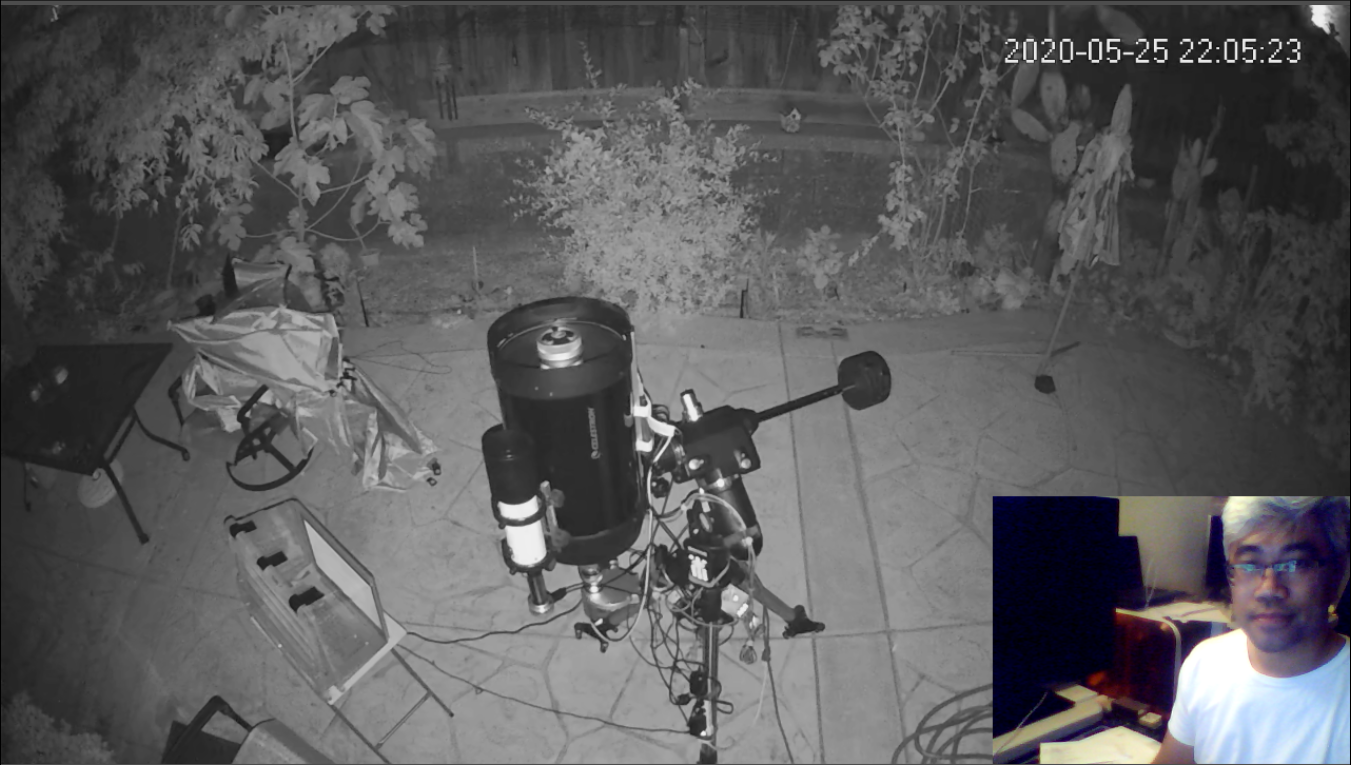 C11 from my surveillance camera and me.